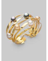 Majorica - Metallic 10mm Multicolor Pearl Bracelet - Lyst