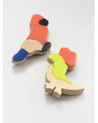 Marni | Red Resin Cardboard Animal Brooch Set | Lyst