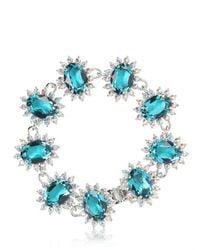 Mawi - Blue Linked Crystal Bracelet - Lyst