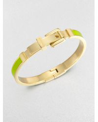 Michael Kors | Enamel Buckle Bangle Bracelet Lime Green | Lyst