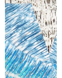 Peter Pilotto   Blue Compass Printed Cotton-blend Dress   Lyst