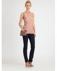 RED Valentino   Pink Lace Blouse   Lyst
