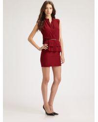 Sachin & Babi   Red Charlotte Peplum Dress   Lyst