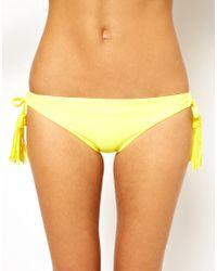 Seafolly   Yellow Exclusive To Asos Jazz Tie Side Bikini Pant   Lyst