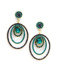 Sparkling Sage - Green Oval Bulls Eye Earrings - Lyst