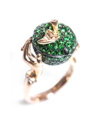 Stephen Webster - Green Tsavorite Diamond Gold Poison Apple Ring - Lyst