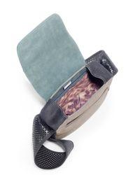 Stuart Weitzman - Natural Colorblock Nubuck Leather Crossbody Bag - Lyst