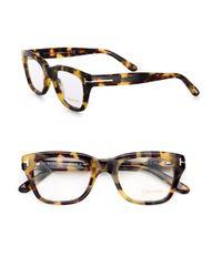 9e82e6a1a3d1 Lyst - Tom Ford Full-rim Square Optical Glasses - Havana in Brown