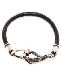 Ann Demeulemeester | Metallic Leather and Silver Plated Claw Bracelet for Men | Lyst