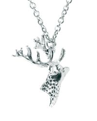 ASOS - Metallic Stag Necklace for Men - Lyst