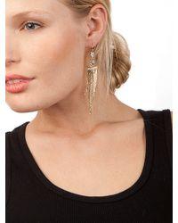 BaubleBar - Metallic Silver Cleo Fringe Earrings - Lyst