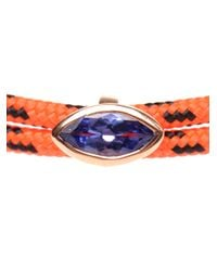 Dezso by Sara Beltran - Orange Bungee Cord Bracelet with Tanzanite Stone - Lyst