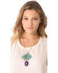 Gemma Redux | Purple Jade Pendant Necklace | Lyst
