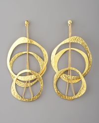 Herve Van Der Straeten - Metallic Multicircle Earrings - Lyst