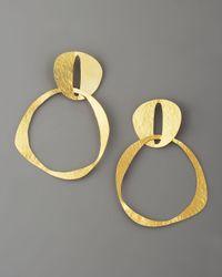 Herve Van Der Straeten   Metallic Doublecircle Earrings   Lyst