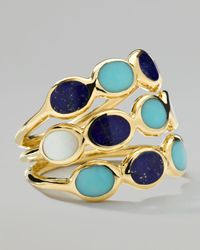 Ippolita | Metallic Gold Rock Candy Three-Row Ring | Lyst