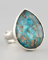 Ippolita | Blue Wonderland Silver Turquoise Teardrop Ring | Lyst