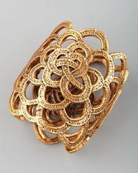 Oscar de la Renta - Metallic Looped Lace Cluster Cuff  - Lyst
