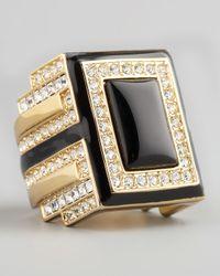 Rachel Zoe | Metallic Art Deco Ring | Lyst