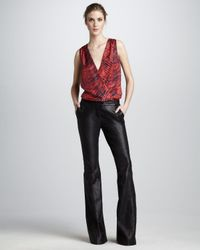 Rachel Zoe - Black Hutton Flared Leather Pants - Lyst
