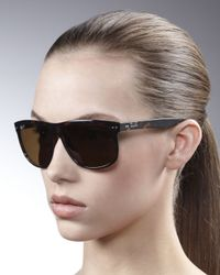 Ray-Ban | Black Oversize Polarized Wayfarer Sunglasses | Lyst