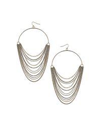 TOPSHOP | Metallic Multirow Hoop Earrings | Lyst