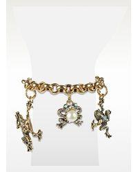 Alcozer & J | Brown Frog Charm Brass Bracelet | Lyst