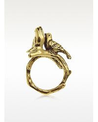 Alcozer & J | Metallic Robin Brass Ring | Lyst