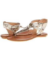 Belle By Sigerson Morrison | Metallic Randy Sandals | Lyst