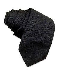 FORZIERI | Solid Black Twill Silk Narrow Tie for Men | Lyst