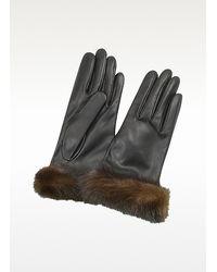 FORZIERI   Women's Black Italian Nappa Leather Gloves   Lyst
