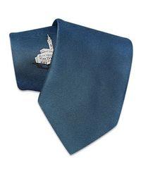 FORZIERI   Blue Palazzo Vecchio Woven Silk Tie for Men   Lyst