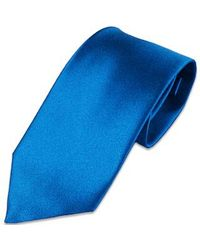 FORZIERI | Blue Solid Silk Tie for Men | Lyst