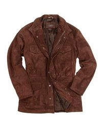 FORZIERI | Men's Brown Four Pocket Italian Suede Leather Jacket for Men | Lyst