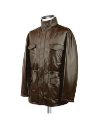 FORZIERI - Men's Dark Brown Italian Four-pocket Leather Jacket for Men - Lyst