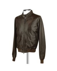 FORZIERI - Men's Dark Brown Italian Genuine Leather Bomber Jacket for Men - Lyst