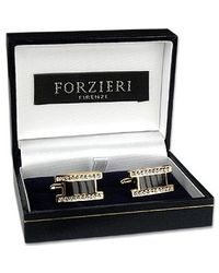 FORZIERI | Metallic Elegant Gold Plated Cuff Links for Men | Lyst