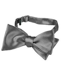 FORZIERI - Dark Gray Solid Silk Self-tie Bowtie for Men - Lyst