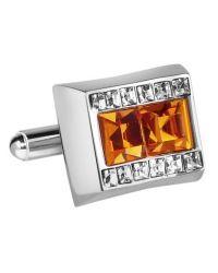 FORZIERI | Orange Square Stone Cufflinks for Men | Lyst