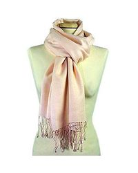 FORZIERI | Pale Pink Pashmina Scarf | Lyst