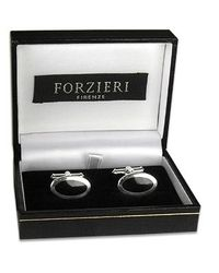 FORZIERI - Metallic Classic Sterling Silver Cuff Links for Men - Lyst