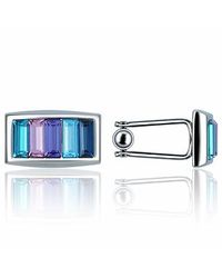 FORZIERI | Metallic Gradient Crystal Silverplated Cufflinks for Men | Lyst