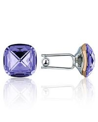 FORZIERI | Metallic Violet Crystal Silver Plated Cufflinks for Men | Lyst