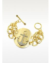 Juicy Couture | Metallic Double Chain Anchor Bracelet | Lyst