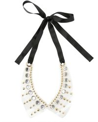 Marni - Multicolor Studs and Crystals Pvc Collar - Lyst