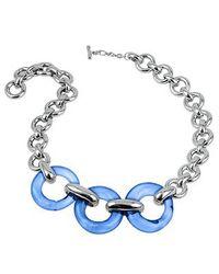 Masini | Blue Round Murano Glass & Sterling Silver Necklace | Lyst