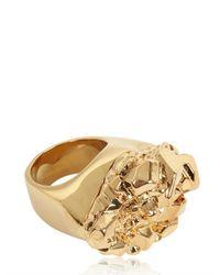 MICHAEL Michael Kors - Metallic Gold Plated Rock Ring - Lyst