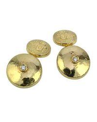 Torrini - 18k Yellow Gold Diamond Cufflinks for Men - Lyst