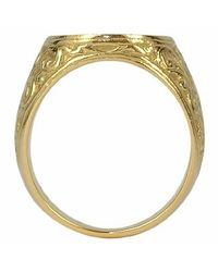 Torrini - Socrates - Engraved Oval Yellow Gold Men's Ring for Men - Lyst