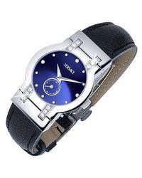 Versace   Madison - Ladies' Black Round Dial Diamond Watch   Lyst